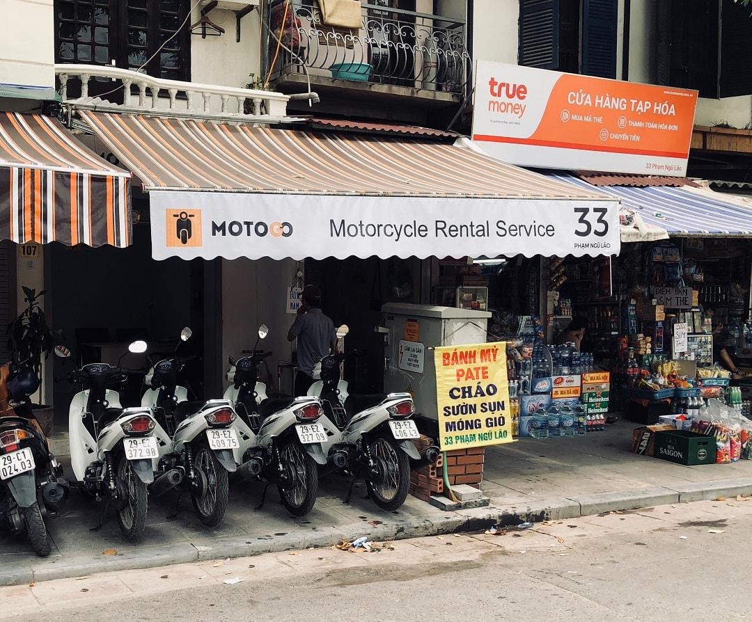 thuê xe máy tại MOTOGO